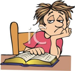 0511-1008-1618-5662_Cartoon_of_a_Bored_Kid_Doing_Homework_clipart_image