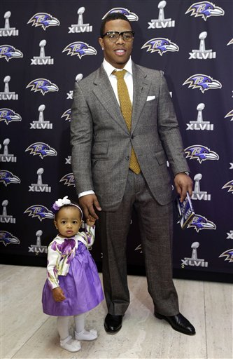 Photo of Ray Rice & his  Daughter  Rayven Rice