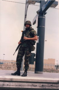 riots soldier